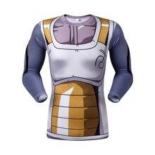 Moto 2016 Dragon Ball Shirt for Men Dragon Ball Vegeta Goku Super Saiyan Piccolo Long Sleeve Sport Fitness T -Shirt 3D Tees