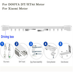 Super Quiet Motorized Curtain track, Smart home used Motorized Curtain Track For Xiaomi Motor&Dooya Motor