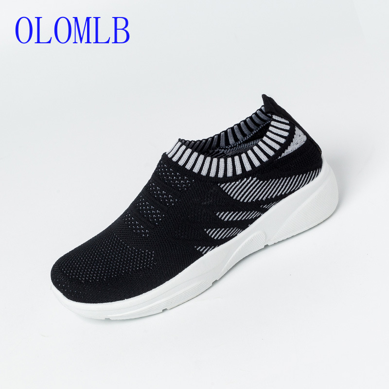 OLOMLB 2019 Fasion Women Shoes Breathable Ventilation Flyknit Comfortable Walking Casual Shoes Women Sneakers Zapatillas MujerOLOMLB 2019 Fasion Women Shoes Breathable Ventilation Flyknit Comfortable Walking Casual Shoes Women Sneakers Zapatillas Mujer