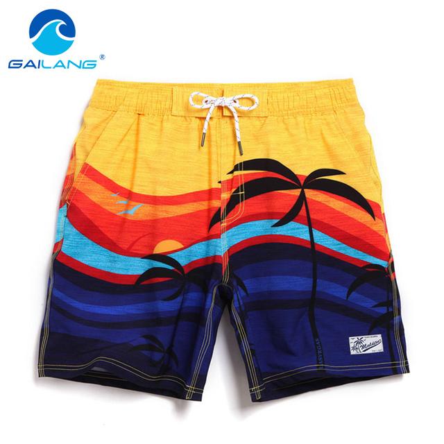 GAILANG Marca Hombres Trajes de Baño Trajes de baño de Cargas de Entrenamiento Activo Bermudas Hombre Pantalones Cortos de Playa de Secado rápido Para Hombre Boxeadores Trunks Gay