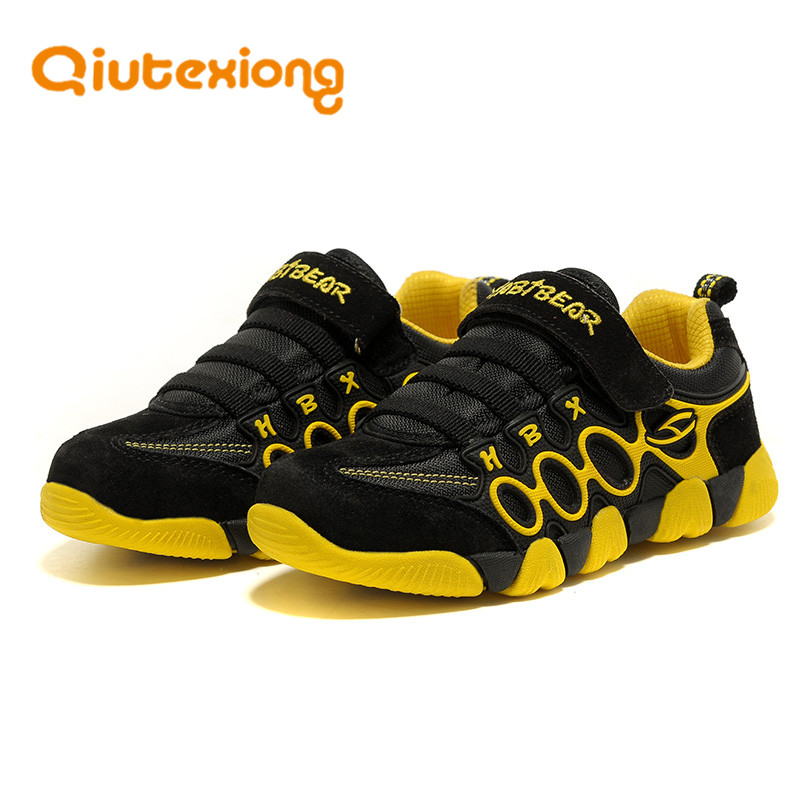 QIUTEXIONG Genuine Leather Children Shoes For Girls Casual Shoes Boys Sneakers Sport Running Toddler Baby Shoes chaussure enfant