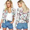 Capa de las mujeres Chaquetas cortas de Impresión 3D Flores de Primavera Otoño Moda Casual Bomber Señora Clothes Outwear DM #6