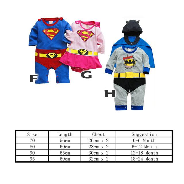 Superhero Romper Sets