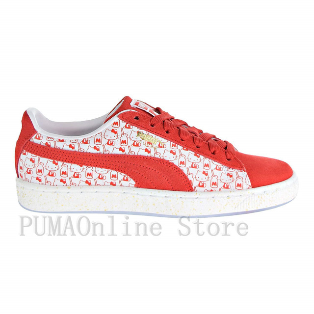 6ae6748cdf7cab 2018 PUMA Women s x Hello Kitty Suede Classic Sneaker - 50 Year Anniversary  Limited Edition Size35.5-40
