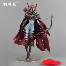 Kids Toys 14.5cm WOW Sylvanas Windrunner Archery queen PVC Action Figure Model With Base Box Collection Boy Toy Birthday Gifts wow model collection shaman night elf druid broll bearmantle action figures classic toys for boys with retail box free shipping