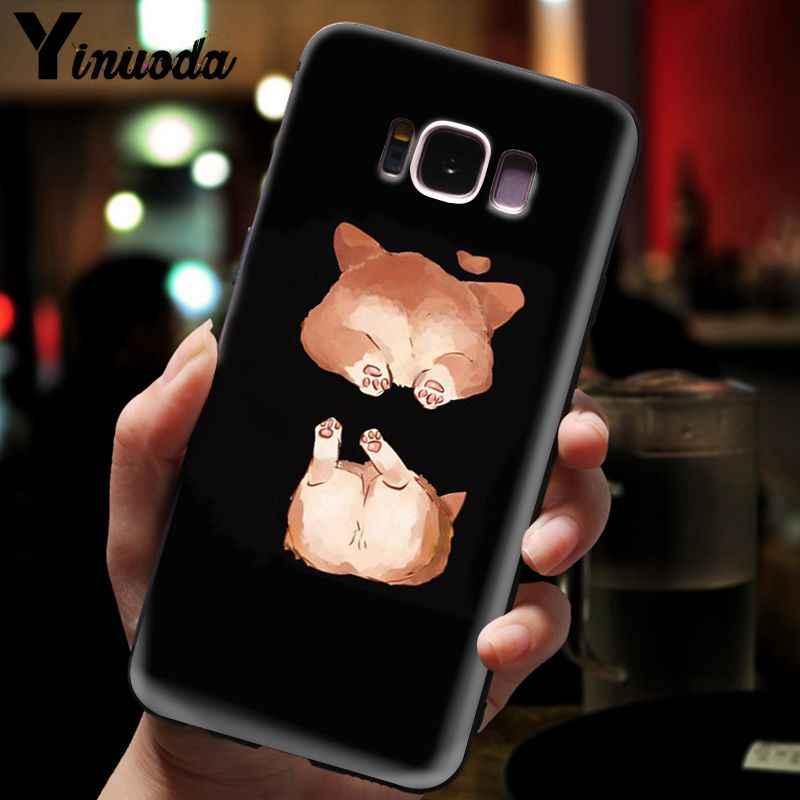 Yinuoda милый корги с мультяшной собакой для телефона с изображением забавных мультфильмов аксессуары чехол для Galaxy S5 s6 edge plus s7 edge s8 s9 plus