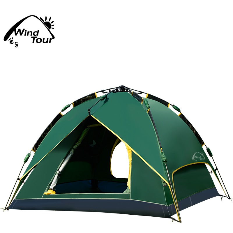 Wind Tour Outdoor Instant Tent Automatic C&ing Tent Quick Set Up-in Tents from Sports u0026 Entertainment on Aliexpress.com | Alibaba Group  sc 1 st  AliExpress.com & Wind Tour Outdoor Instant Tent Automatic Camping Tent Quick Set Up ...