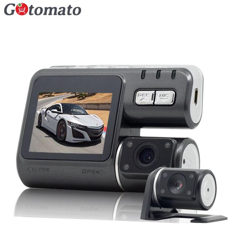 imágenes para Gotomato Cámara Dual DVR i1000 Allwinner Full HD 1080 P Lente Dual Dash Cam Video Recorder 2 Cámara de Visión Nocturna de Coches DVR Videocámara
