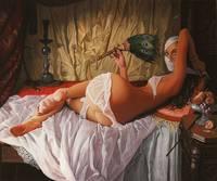 Nghệ Thuật đương đại Sơn Sexy Sơn Dầu Người Phụ Nữ trên Vải Thị Nữ Adrian Borda Dầu Painting Sao Lại Có Khung Ấn Tượng