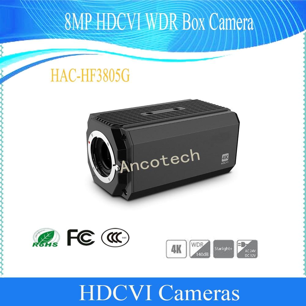 Free Shipping Original DAHUA Security Camera Built-in Mic WDR CMOS 8MP HDCVI WDR Box Camera No Logo HAC-HF3805G