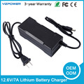 12.6V 7A Intelligent Lithium Ion Battery Charger for Lipo 12V Battery Pack