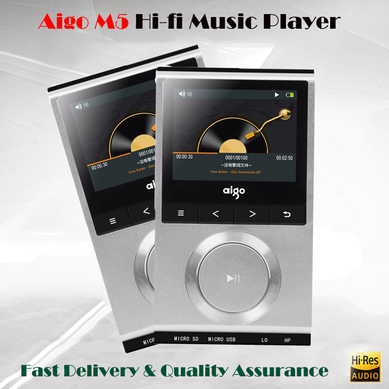 Aigo M5 Hi-res Player Mp3 Portable Lossless Music Player Audio Hifi Mp3 Player DSD Flac Player Hi fi Reproductor Mp3 cayin n3 mp3 player bluetooth 4 0 hifi usb dac music player lossless flac portable otc mp3 player