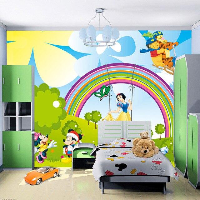 US $26.98 |Nette Karikatur Tapete Schnee Weiß Mickey Mous Fototapete  Benutzerdefinierte 3D Wandbild Kids Mädchen Kinderzimmer Schlafzimmer  Schönes ...