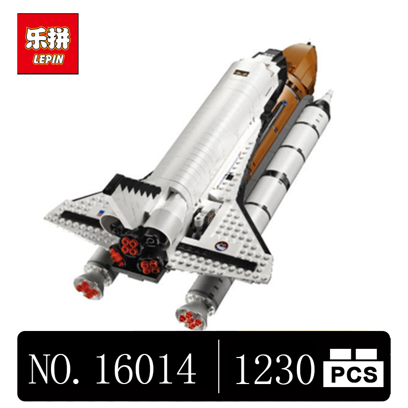 DHL LEPIN 16014 1230Pcs Space Shuttle Expedition Model Building Kits Blocks Bricks Toys For Children Gift Compatible With 10231 lepin 02004 356pcs city series volcanic expedition transport helicopter model building blocks bricks toys for children gift