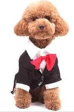 Classic Wedding Dress Gentleman Pet Clothes Suit British Wind Dog Clothes Pet Clothing