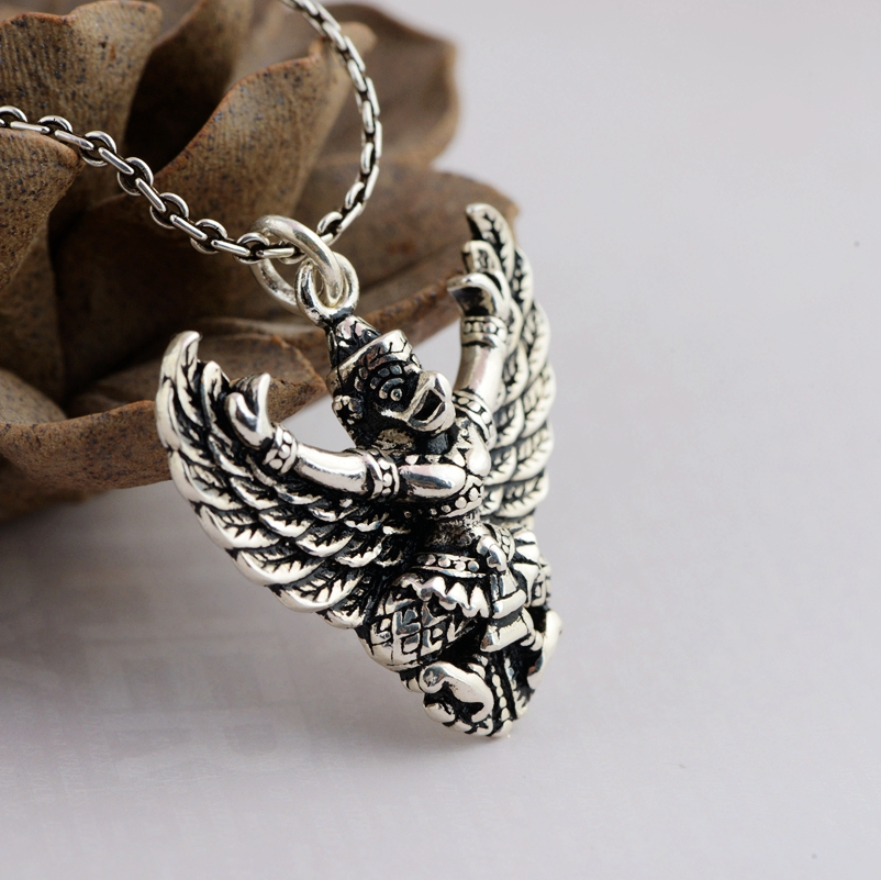 Thai silver pendant Eagle Bird Garuda power God S925 sterling silver jewelry pendant