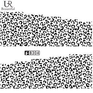 Image 2 - 1pcs Sexy Del Leopardo Unghie Artistiche Adesivi di Trasferimento di Acqua Decalcomanie Animale di Fascino Fai Da Te Involucro PIENO Cursore Manicure Della Decorazione di Accessori BEB304