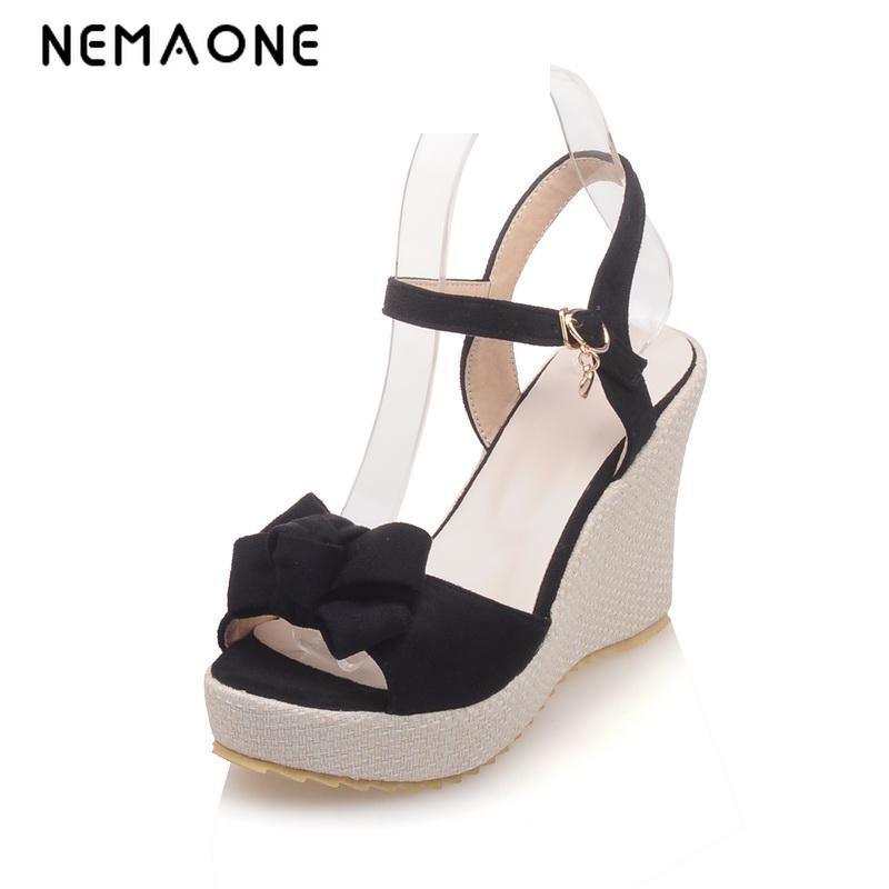 NEMAONE 2017 Summer Fashion women Shoes wedges high Heel Gladiator Sandals platform Women's Shoes 2017 summer new rivet wedges sandals creepers women high heel platform casual shoes silver women gladiator sandals zapatos mujer