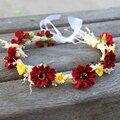 Fabric Flower Hair Accessories Girls Headbands Hair Ornaments Flower Crown Woman Headbands