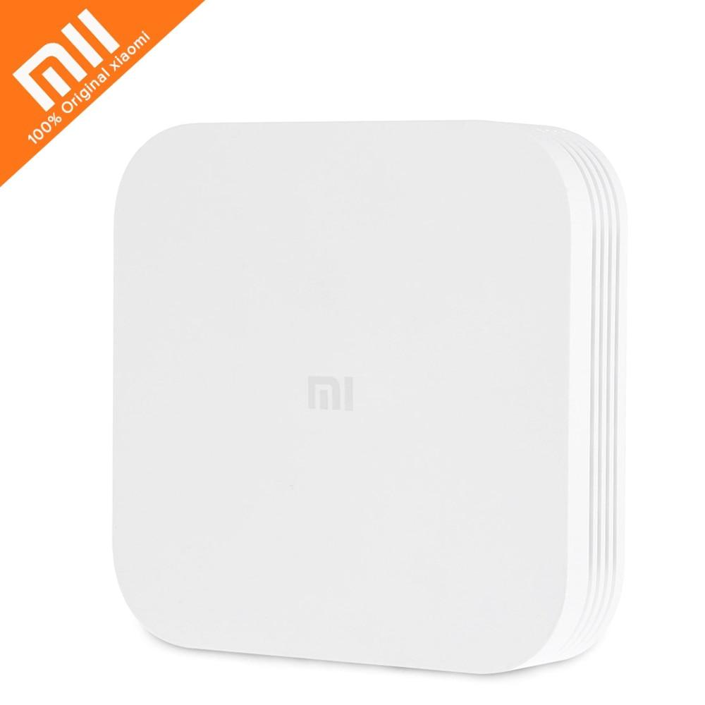 Оригинальный Xiaomi Mi ТВ коробка 3 Enhanced Смарт приставка Android 5,1 4 K HD 2 ГБ 8 ГБ Dual Core 2,4 ГГц 5 ГГц Двойной Wi-Fi Bluetooth 4,1