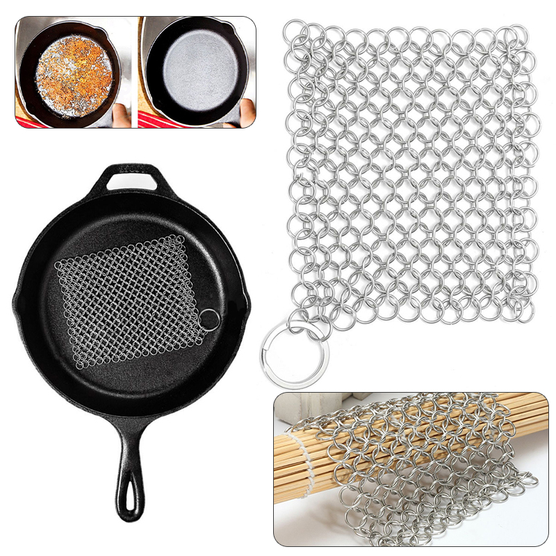 Stainless Steel Chainmail Palm Brush Scrubber Kitchen Gadgets Wash Tool Pan Dish Bowl Cleaning Tool Cookware Accessories