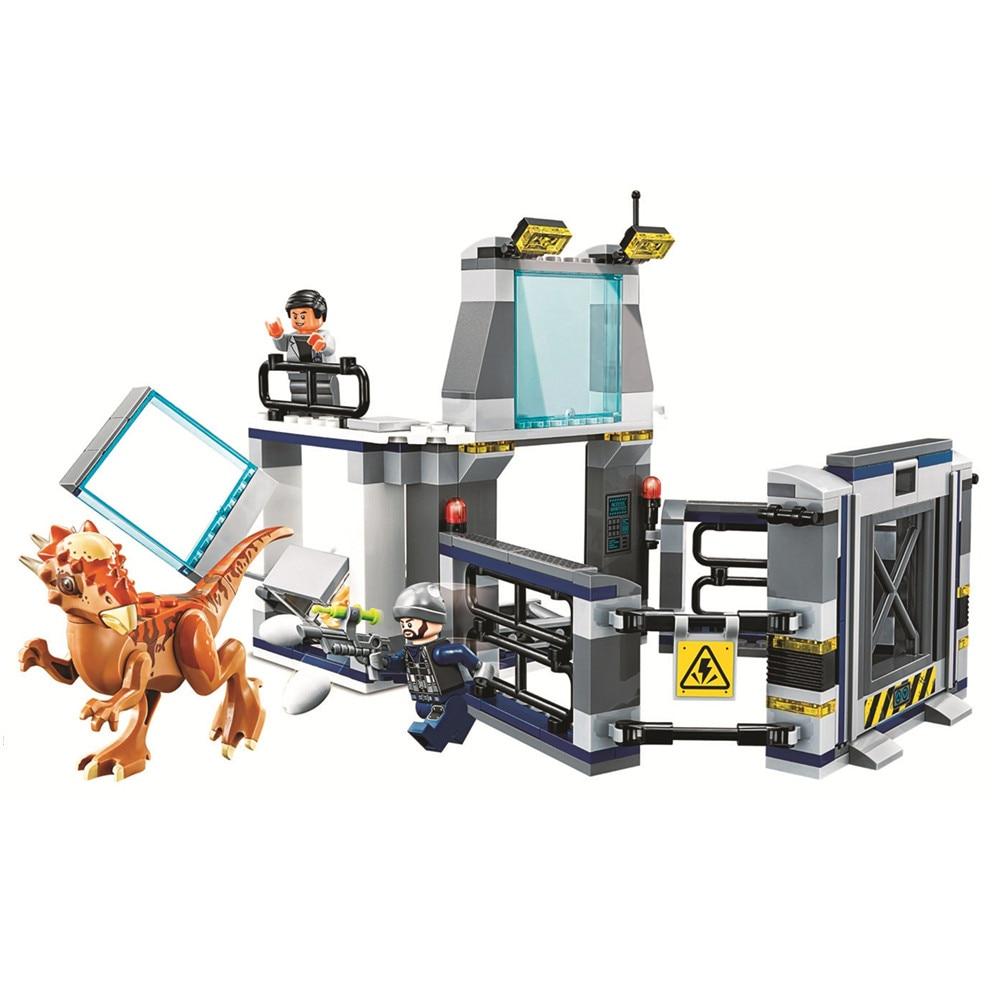 все цены на Jurassic World Stygimoloch Breakout Laboratory Building Blocks Sets Bricks kit Classic Movie Model Kids Toys Compatible Legoe онлайн