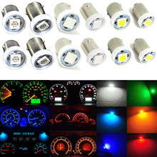 10pcs BA9S 5050 SMD Car LED Dashboard Light font b Gauge b font Cluster Bulbs H6W