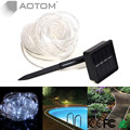 7M Cool White 50 LED Solar Powered Waterproof Tube Flexible Light Fairy String Rope Strips for Christmas holidays outdoor
