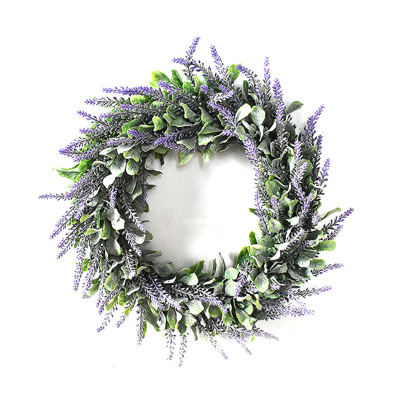 Artificial Wreath Faux Greenery Wreath Front Door Spring Gift Wall Pendant Decor