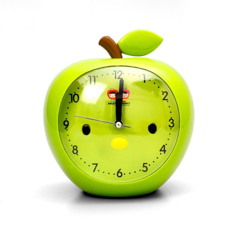 Creative children kid cartoon mute table desk classical style alarm clocks for kids students