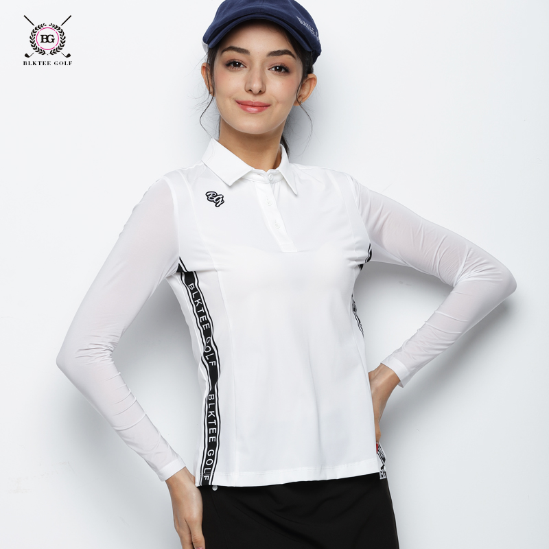 2018 BG Hot Sales New Breathable Golf Polo Shirt Women Long Sleeved Quick Dry T - shirt Ladies Sports Jersey Dressing 2 Colors