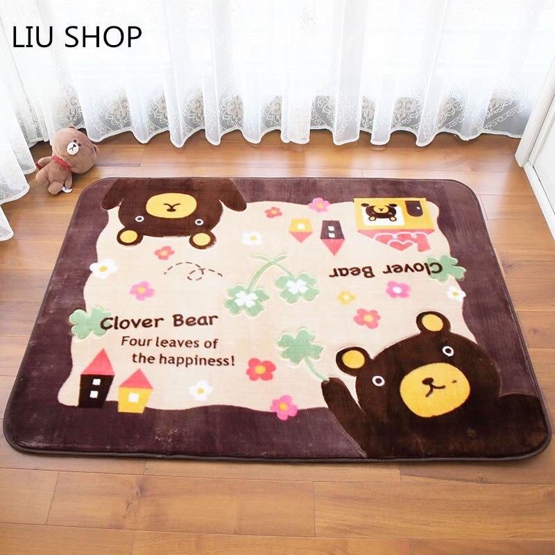 9eedb328995f62 LIU Bande Dessinée belle carpet chambre salon tapis enfants chambre  épaississement corail polaire lit couverture maison
