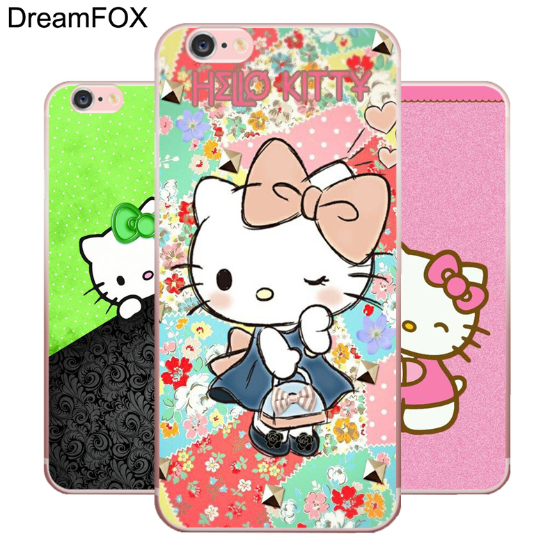 DREAMFOX L425 Doraemon And Hello Kitty Soft TPU Silicone Case Cover For Apple iPhone 8 X 7 6 6S Plus 5 5S SE 5C 4 4S
