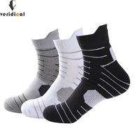 VERIDICAL Brand Men Cotton Polyester Short Socks High Quality Colorful Casual Adult Warm Cotton Socks Autumn