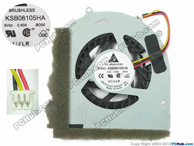 Delta Electronics KSB06105HA BD50 Server Laptop Fan DC5V 0.40A 3-wire delta 12038 12v cooling fan afb1212ehe afb1212he afb1212hhe afb1212le afb1212she afb1212vhe afb1212me