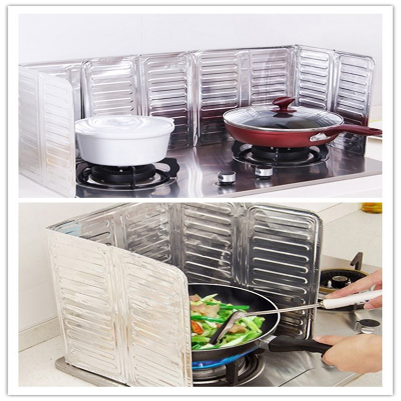 Kitchen Frying Pan Oil Splash Protect Screen Cover Gas Stove Anti Splatter Shield Guard Oil Divide Isolate Splash Proof Baffle(China)