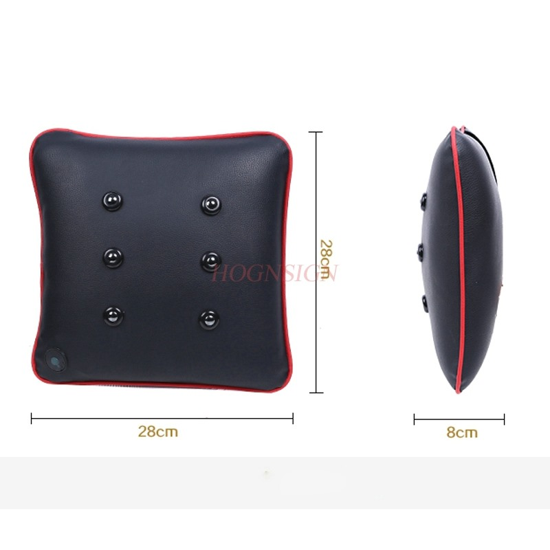 Car massage lumbar support Electric car massage lumbar car waist pad lumbar pillow Charging vibration electric lumbar support automobile interior decorations car massage electric waist cushion magnetic vibrating massage lumbar protective hot sale