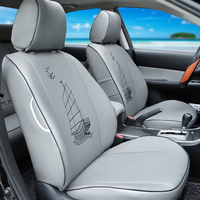 Tailored Seat Covers For Ford Edge Car Seat Cover Set Interior Accessories Durable Pu Leather Car
