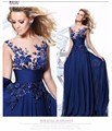 Royal Blue 2017 Cheap Bridesmaid Dresses Under 50 A-line Cap Sleeves Chiffon Embroidery Long Wedding Party Dresses