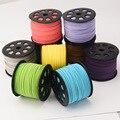 O Envio gratuito de 90 Jardas/Rolo Tópico Cordão de Couro sude Cords Fit para DIY Borlas Bolsa de Vestuário DIY Resultados Da jóia 25*15mm