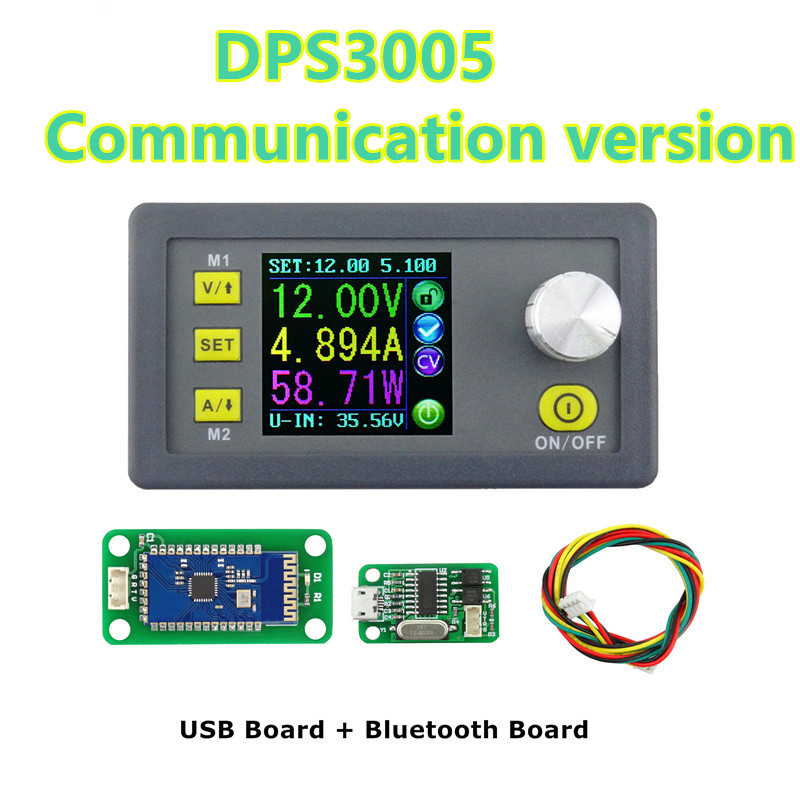DPS3005 Communication Function Step-down Power Supply Constant Voltage current  converter module buck Voltage voltmeter 40%off constant digital voltage current meter step down dp50v2a voltage regulator supply module buck color lcd display converter
