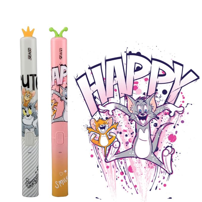 SEAGO Children Cartoon Electric Toothbrush Kid Cute Soft Dupont Bristle Waterproof Rechargeable Ultrasonic Sonic Teeth Brush EK9