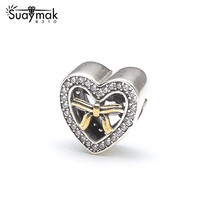 Diy European Fashion 925 Sterling Silver Cartoon Minnie Mickey Charms Beads Compatible Fit For SMK Bracelet