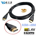 HDMI Кабель 0.5 М 1 М 2 М 3 М 5 М 10 М 15 М 20 М Позолоченный связи Между Мужчинами HDMI Кабель V1.4 HD 1080 P для ЖК-DVD HDTV XBOX PS3