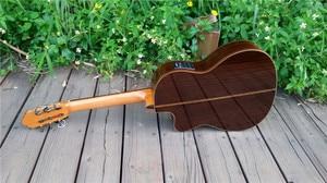 39 дюймов Cutaway электрическая испанская гитара, VENDIMIA Solid Cedar /Rosewood Акустическая ручная гитара ras + Струны, Классическая гитара