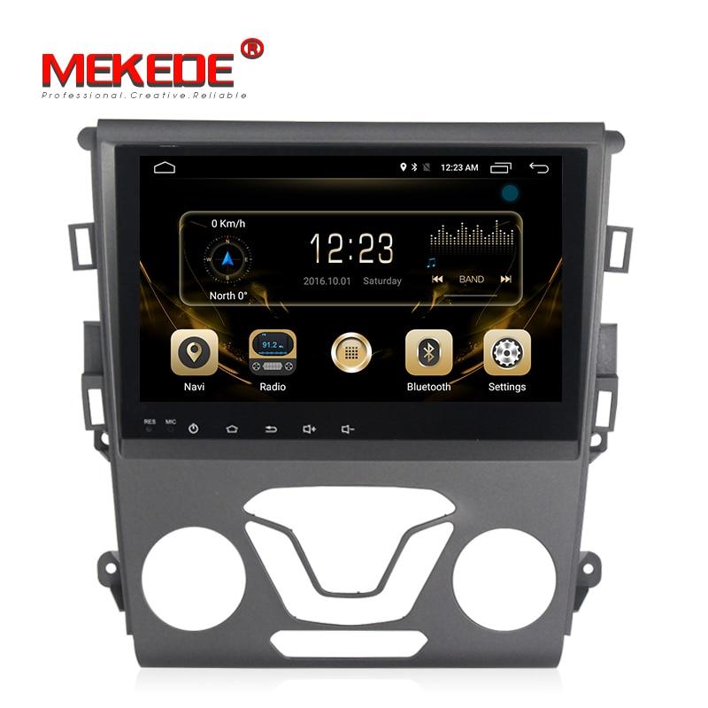 MEKEDE android7.1 voiture lecteur dvd appui-tête de voiture radio pour Ford Mondeo Fusion 2013 2014 Voiture stéréo autoradio navigation GPS NAVI BT