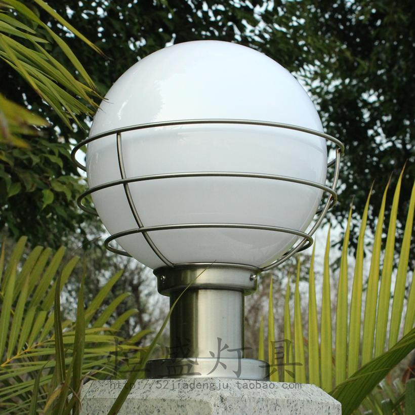 Outdoor Waterproof Classic Round Ball Lamp Post Caplights Wall Light Wall Light  Lamp Post The Door