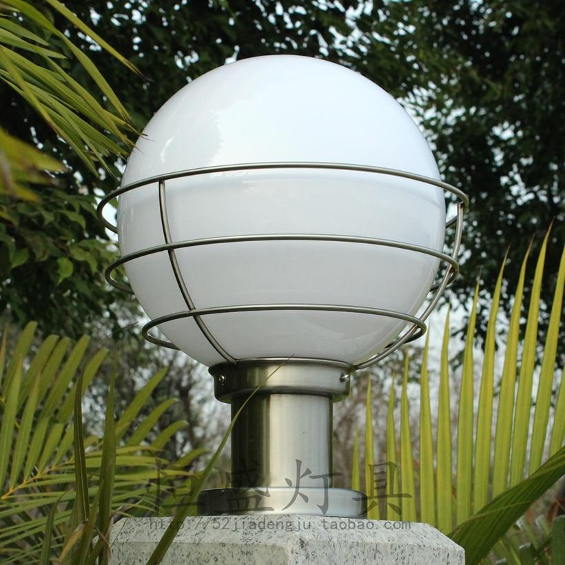 Outdoor Waterproof Classic Round Ball Lamp Post Caplights Wall Light Wall Light Lamp Post The Door Lamp Outdoor