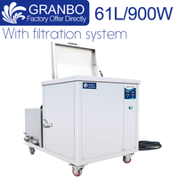 60L Industrial Ultrasonic Cleaner Stainless Steel 304 Soak Tank Filtration System 110V/220V 40khz for Oil Oxide Carbon Removal