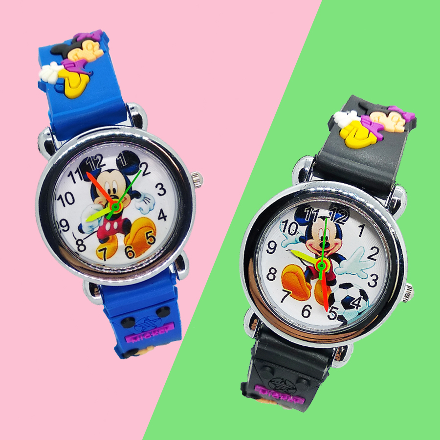 Cartoon Mickey Watch For Children Girl Boy Student Clock Silicone Quartz Wristwatches Kids Watches Christmas Gift Reloj Infantil